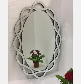 Овальное декоративное зеркало Omega (Омега), 87*122 см