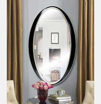 Овальное зеркало в раме Elipse Black (Элипс), 61*101 см