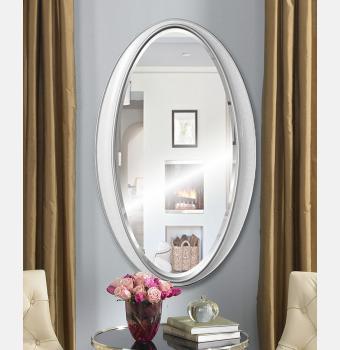 Овальное зеркало в раме Elipse White (Элипс), 61*101 см