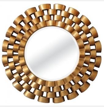 Зеркало в раме модерн Nexus Gold (Нексус), Ø91 см