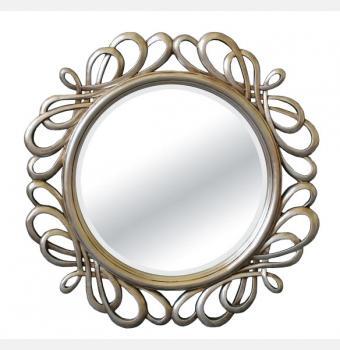 Зеркало в раме модерн Plexus (Плексус), Ø80 см