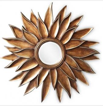 Зеркало в раме модерн Peony (Пеон), Ø102 см