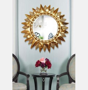 Зеркало-солнце Sol Gold (Солнце), Ø85 см