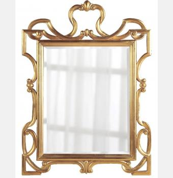 Зеркало в резной раме King Gold (Кинг), 75*90 см