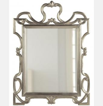 Зеркало в резной раме King Silver (Кинг), 75*90 см