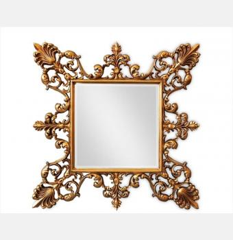 Зеркало в резной раме Regent Gold (Регент), 98*98 см