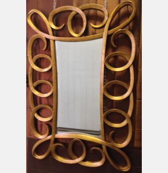 Зеркало в резной раме Grand Coils Gold (Гранд Коилс), 101*152 см