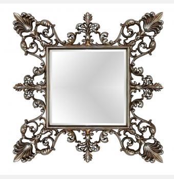 Зеркало в резной раме Regent Silver (Регент), 98*98 см