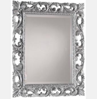 Зеркало в резной раме Oxford Silver (Оксфорд), 90*120 см