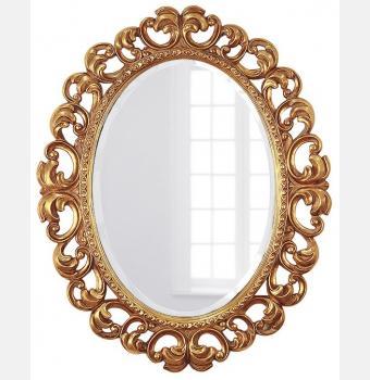Овальное зеркало в раме Daisy Gold (Дейзи), 80*100 см