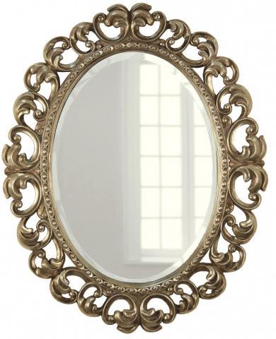 Овальное зеркало в раме Daisy Silver (Дейзи), 80*100 см